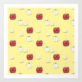 Toffee Apples Pattern Art Print