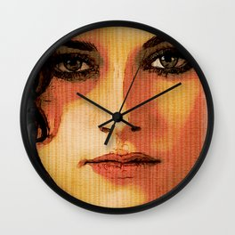 Kristen Stewart Portrait #2 Wall Clock