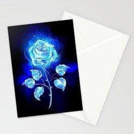 Burning Blue Rose Stationery Cards