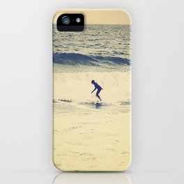 Surf  photography in Cannes French Riveria iPhone Case