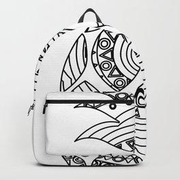 Ornate pineapple Backpack