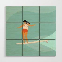 Surf girl Wood Wall Art