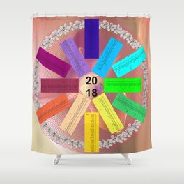 Kalender 2018 de - keltische Feiertage Shower Curtain