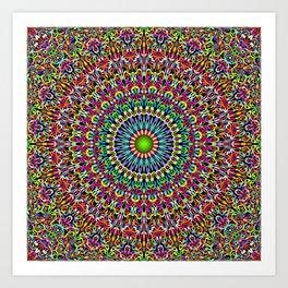 Happy Garden Mandala Art Print