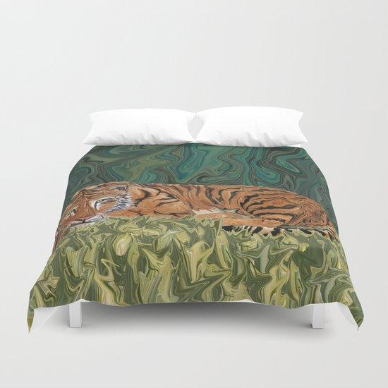 Tiger's Sunday Serendipity  Duvet Cover