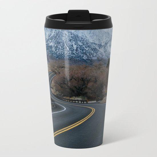 Blue Mountain Road Metal Travel Mug