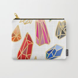 colorful gemstones/crystals Carry-All Pouch