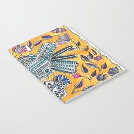Madhubani - Blue Yellow Bird Notebook