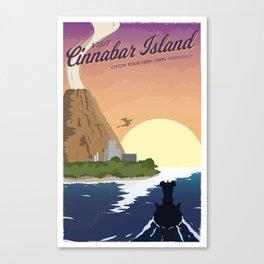 Cinnabar Island Travel Poster Canvas Print