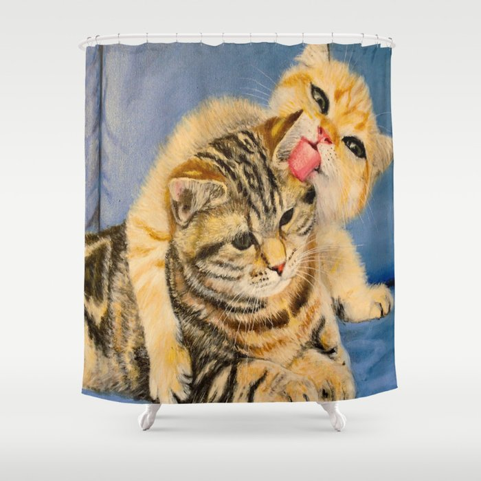 Playing cats Shower Curtain by cec | Society6