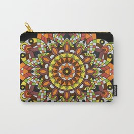 Seventies Kaleidoscope Black Carry-All Pouch
