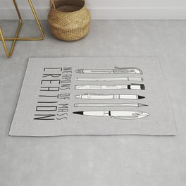 Weapons Of Mass Creation (on grey) Rug