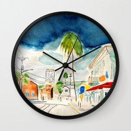 Street in Louisiana Wall Clock