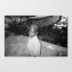 Haiti, Eyes of a Child, Kodak BW400CN Canvas Print