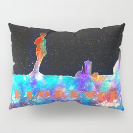Florence Italy Skyline - With Lower Banner Pillow Sham