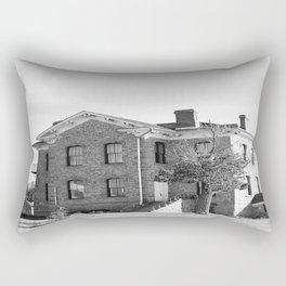 The Old Brick House (black & white) Rectangular Pillow