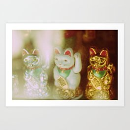 Lucky Cats Art Print