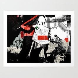 Short circuit shopping bug Art Print