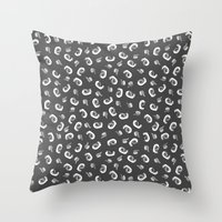 tape Throw Pillows featuring Tape  by icantdance