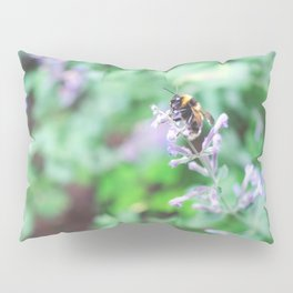 Bee in the Purple Flowers Pillow Sham