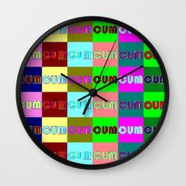 CUM multicolor Wall Clock