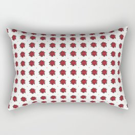 Christmas flower - Poinsettia Rectangular Pillow