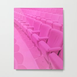 Pink Theater Seats in Palm Springs Metal Print