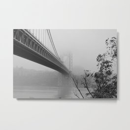 fog under the bridge Metal Print