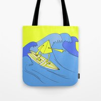 surfer Tote Bags featuring Surfer by melanie johnsson