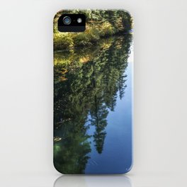 A Watery Avenue of Trees iPhone Case