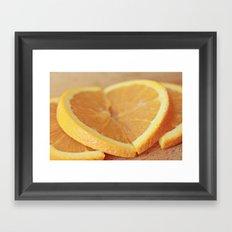 Fresh Orange Slices Framed Art Print