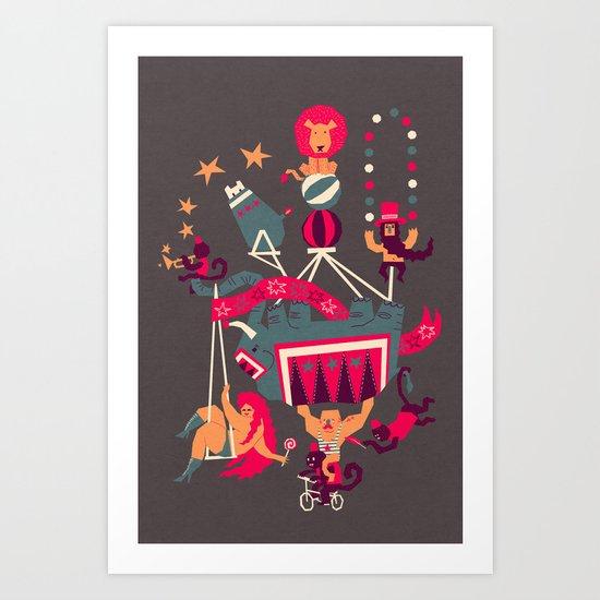 Circus is coming Art Print