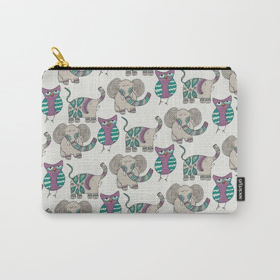 Whimsical Animals Carry-All Pouch