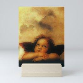 """Raffaello Sanzio da Urbino """"Sistine Madonna"""", 1513-1514 - angels (2) Mini Art Print"""