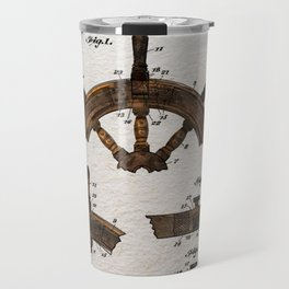 Ship steer wheel color Travel Mug