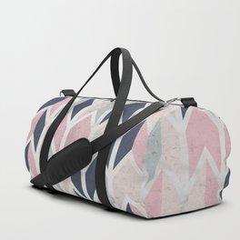 Aged Chevron Pattern Duffle Bag