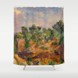 """Paul Cezanne """"Bibémus"""" Shower Curtain"""