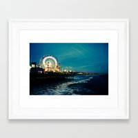 santa monica Framed Art Prints featuring Santa Monica by Kingston Photography