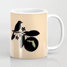 Florida - State Papercut Print Coffee Mug