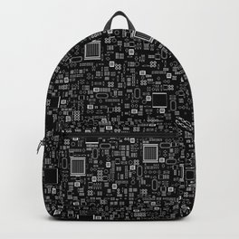 All Tech Line INVERTED / Highly detailed computer circuit board pattern Backpack
