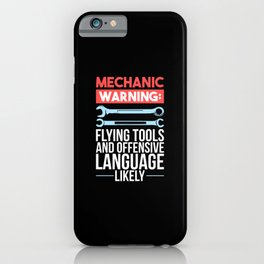 Mechanic  - Warning iPhone Case