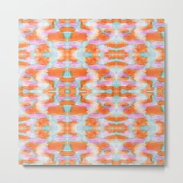 Summer Tangerine Creamsicle Pattern Metal Print