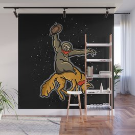 Sloth Rodeo Wall Mural