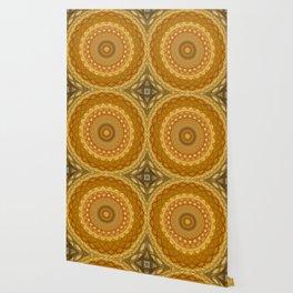 Golden and yellow mandala Wallpaper