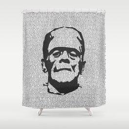 Words of Frankenstein Shower Curtain
