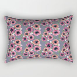 botanical Anemone watercolor flowers Rectangular Pillow