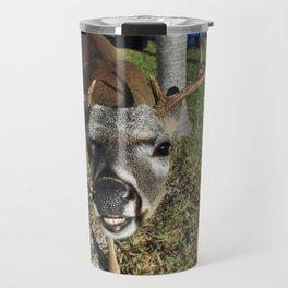 Smiling Key Deer Travel Mug