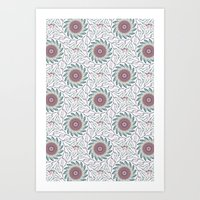 wallpaper Art Prints featuring Wallpaper  by Truly Juel