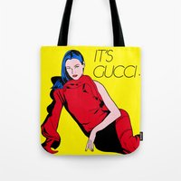 gucci Tote Bags featuring Gucci! by Alli Vanes