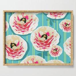 Summer Bloom #floral #pattern Serving Tray